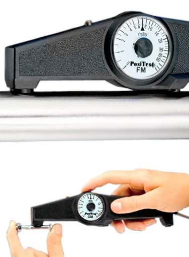 DeFelsko PosiTest F Magnetic Pull-Off Coating Thickness Gage, Scale 0-2000 microns