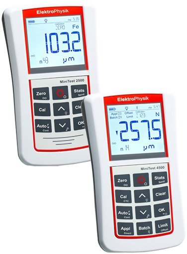 ElektroPhysik MiniTest 2500 & 4500 Coating Thickness Gauges